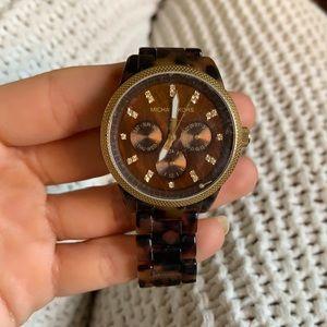 Tortoise shell Michael kors watch